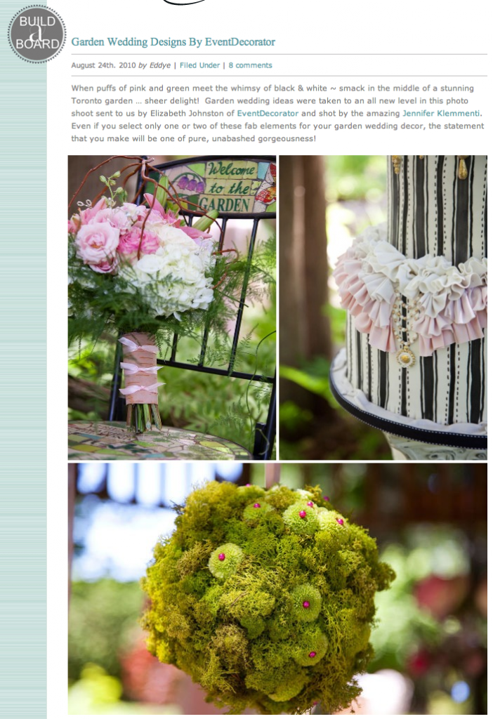 Inspiration Board for Garden Wedding