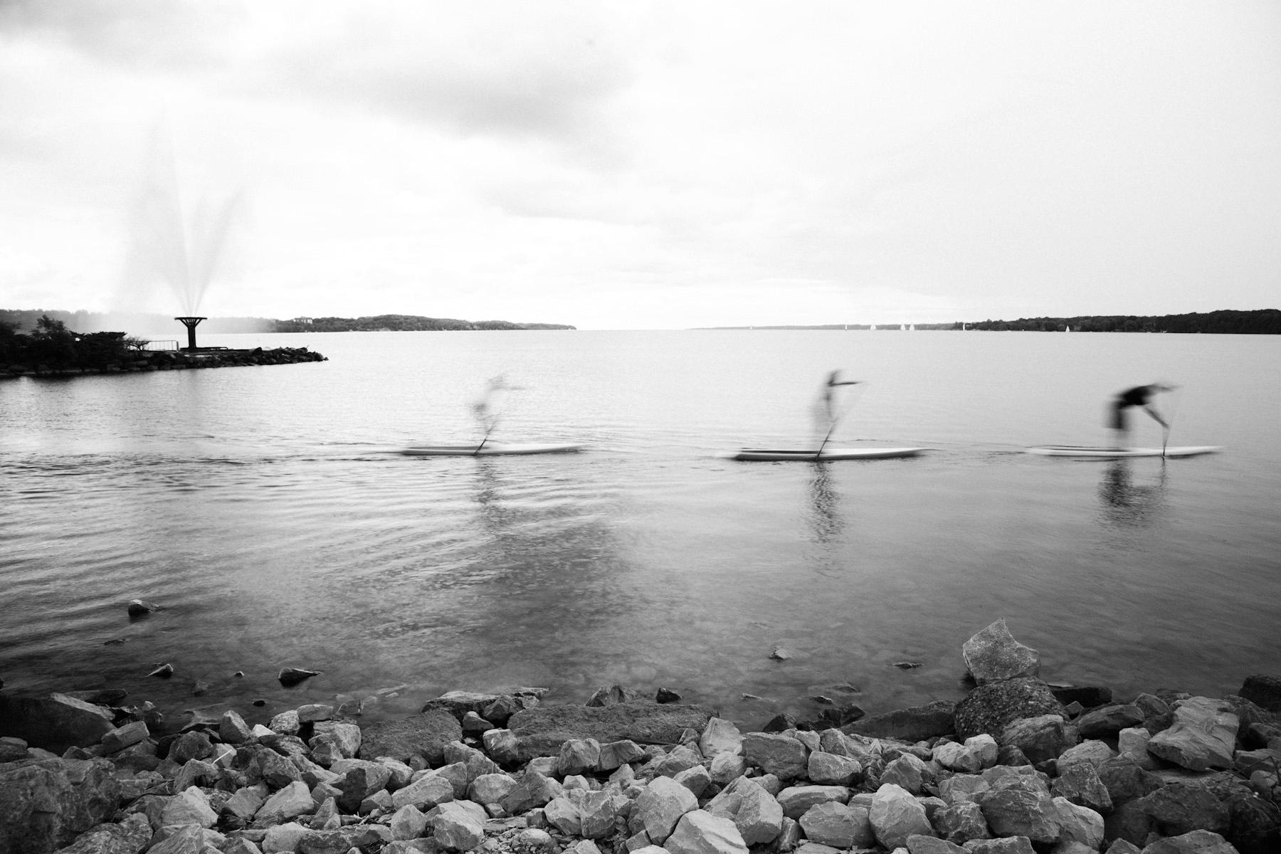 fine art portrait of paddle boarders