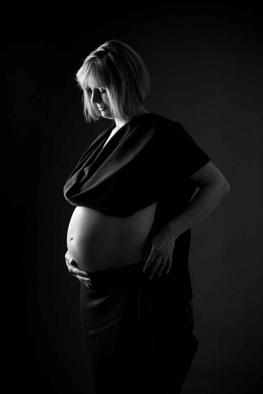 fine art maternity portrait