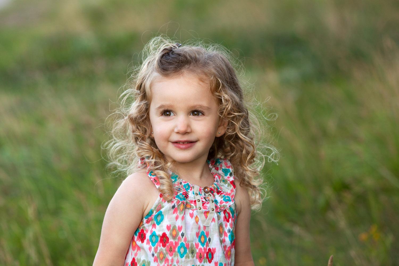 fine art child portrait in field