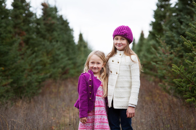 Fall children's portrait in field