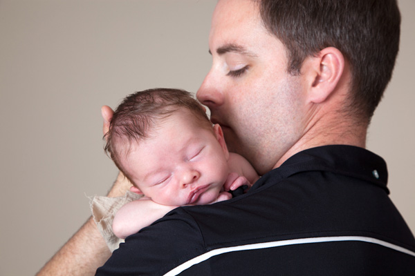 Dad and newborn portrait