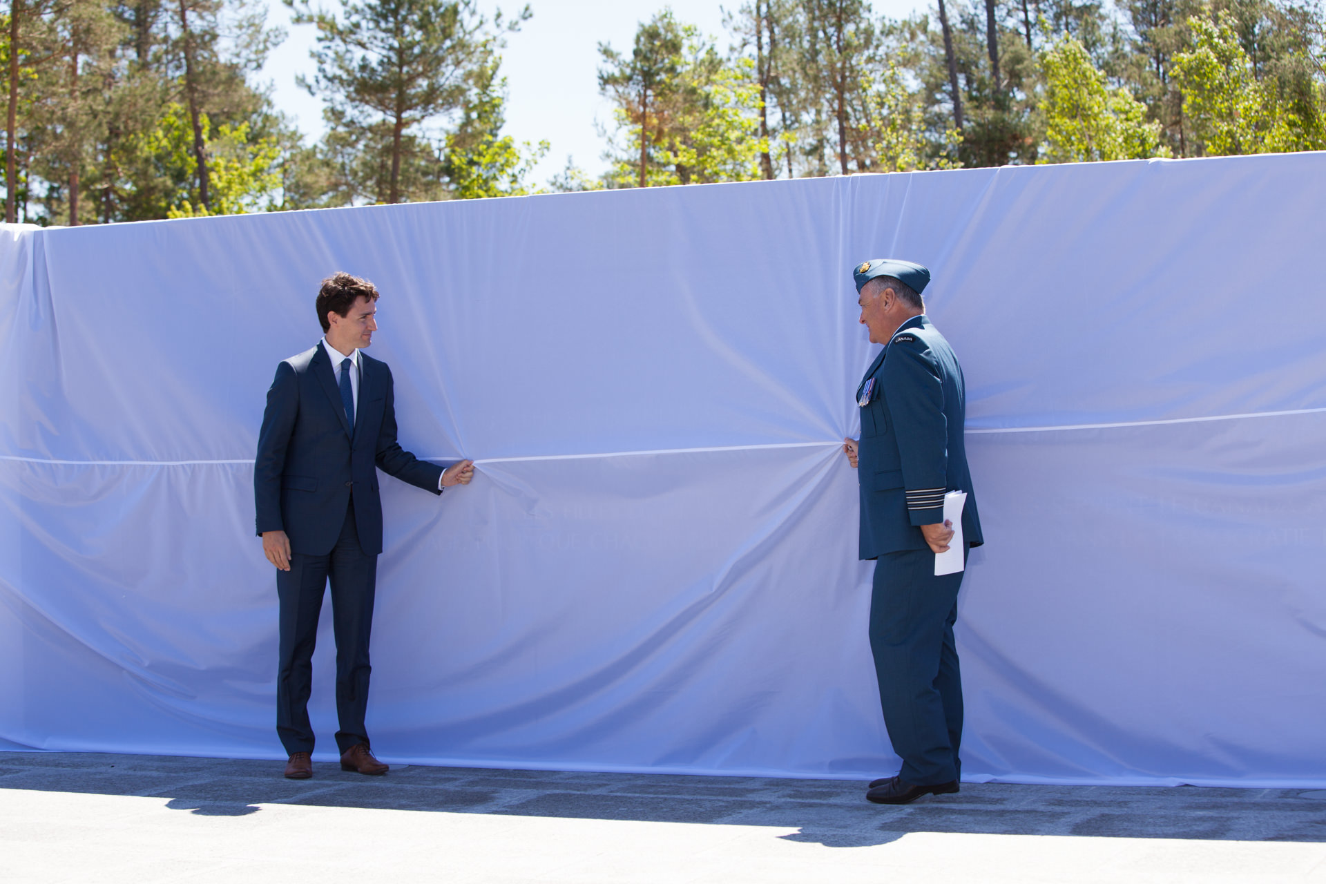 Justin Trudeau, Honorary Colonel Jamie Massie Borden Legacy Monument