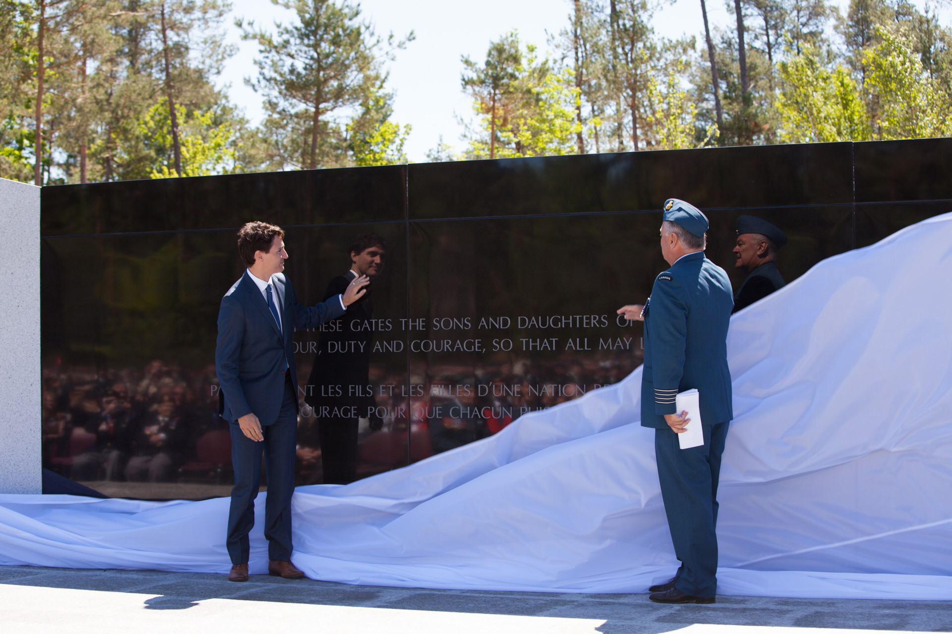 ustin Trudeau, Honorary Colonel Jamie Massie Borden Legacy Monument
