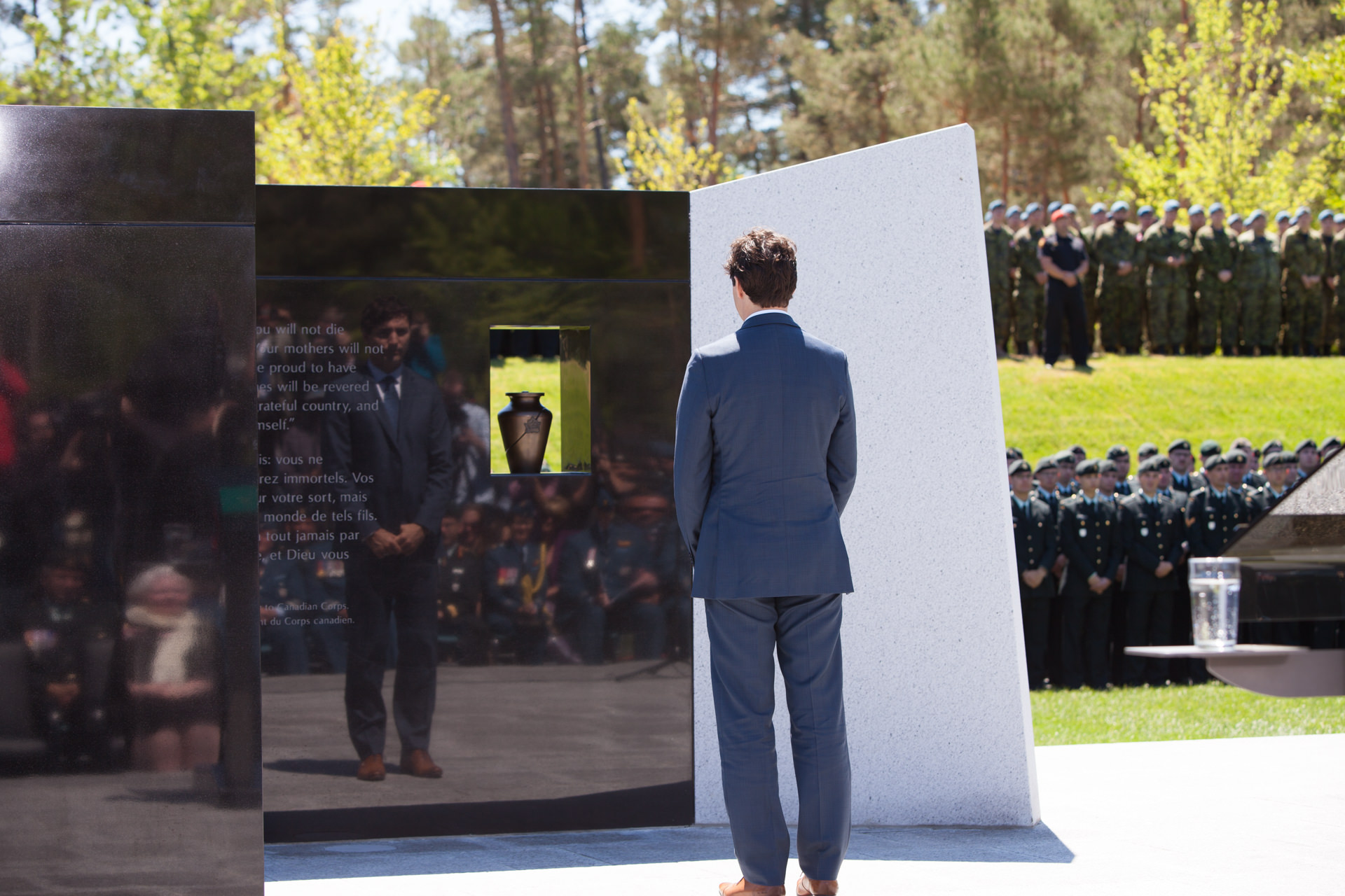 Justin Trudeau at Borden Legacy Monument